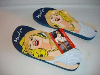 MARILYN MONROE PHOTO FUN FLIP FLOP SANDAL SZ M 7 8 NEW