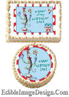Cat In The Hat Edible Cake Topper