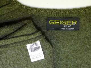 GEIGER BOILED WOOL Winter SWEATER Jacket Coat 48 10 M