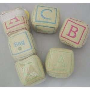 Lot of 6 Alphabet Blocks Plush Planet Dog Toys