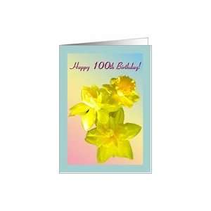 Age Specific Birthday 100 Yrs.Old Greeting Card Beautiful