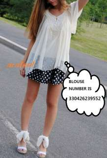 POLKA dot print mini skirt black navy white vintage 2 4