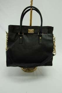 Michael Kors NEW MK Large Black Hamilton Leather Tote Bag Purse