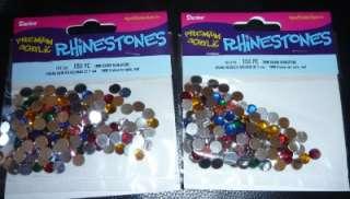 2pk 7mm MULTI colored RHINESTONES Bedazzler Setter 300 pieces jewel