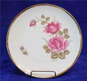 Seltmann Weiden BAVARIA Pink Rose Gold Trim Salad Plate