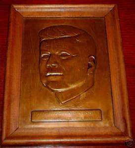 JFK John Kennedy raised copper relief Portrait T40