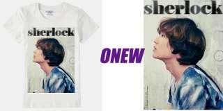SHINee Sherlock T shirt, K pop Boyband SHINee Jonghyun Taemin Key