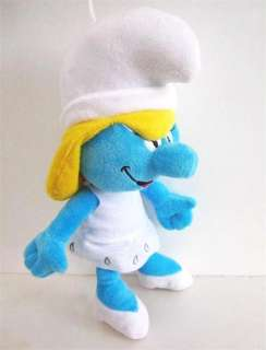 2011 The Smurfs 3D Smurfette Stuffed Plush Doll Toy 11 Great for
