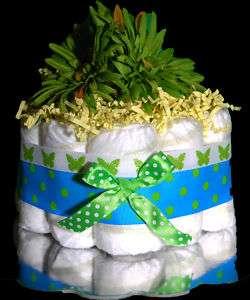 Girl Boy Baby Shower Gift Diaper Cake Centerpiece Cute