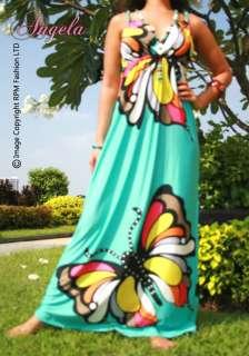 NEW Butterfly Summer/Beach/Evening Women Long Maxi Dress Size Sz M