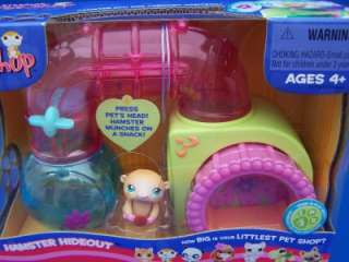 Littlest Pet Shop HAMSTER HIDEOUT P&P #3 Retired NEW 05