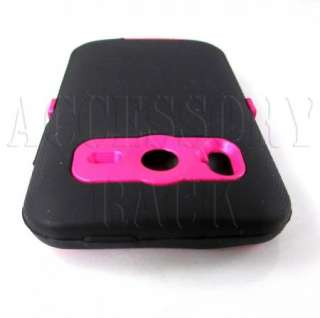 HTC INSPIRE 4G DESIRE HD BLACK ON PINK RUBBER SKIN COVER HARD CASE