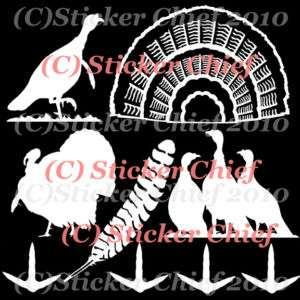 TURKEY DECALS stickers DECAL sticker NWTF feather decoy