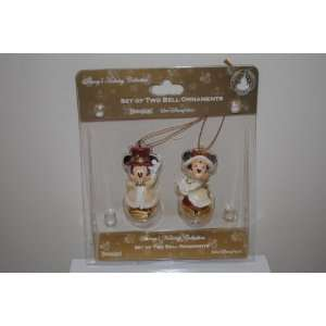 Victorian Mickey Minnie Christmas Bell Ornaments