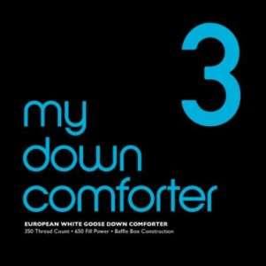 WHITE GOOSE DOWN COMFORTER QUEEN/Full LEVEL 3 My Down Comforter