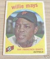 1959 TOPPS WILLIE MAYS #50 EX+ SAN FRANCISCO GIANTS