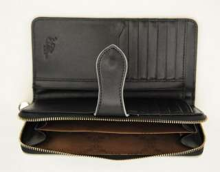 Women Classic Top Genuine Leather Bifold Zip Wallet Credit Coin Card