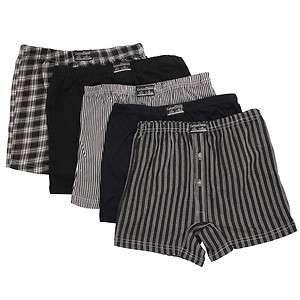 Big Sized Button Fly Jersey Boxer Shorts Natural Cotton Rich