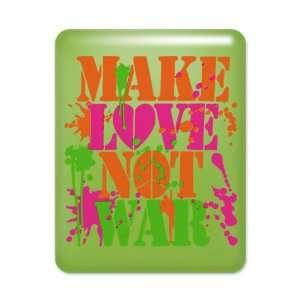 Case Key Lime Make Love Not War Peace Symbol Sign