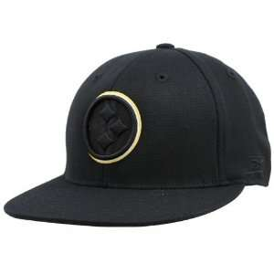Pittsburgh Steelers Black Double Outline Flex Hat