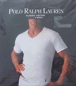 POLO RALPH LAUREN V NECK SHIRTS WHITE MENS NEW 1PIECE