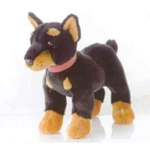 Doberman Dog Stuffed Plush Animal Toys & Games