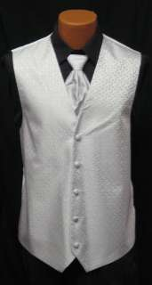 After Six Ice Silver Melrose Fullback Vest & Tie Prom