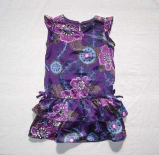 NWT Baby Gap Covent Garden Floral Ruffle Dress 2 3 4 Purple Flower