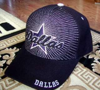Thread Design Black Dallas Cowboys Embroidered Cap Hat