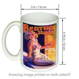 Bedtime Stories Budoir Buyer Vintage Pinup Art COFFEE MUG