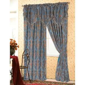 CHATEAU BLUE TAB TOP VALANCE 80  Home & Kitchen