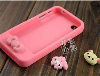 4in1 Cute Pink Hello kitty Bear Rabbit Soft Case For iPhone 4 4G 4s