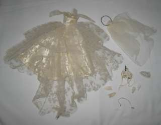 1959 MATTEL BARBIE WEDDING DAY SET OUTFIT COMPLETE #972