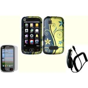 Royal Swirl Design Hard Case Cover+LCD Screen Protector