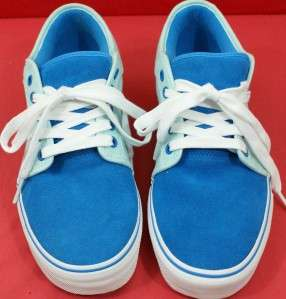 Womens Size 10.5 ( CLCB12 1 ) CHUKKA LOW Canvas Light Blue VANS Shoes