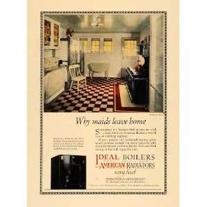Ad Maids Leave Home Ideal Boiler American Radiator   Original Print Ad
