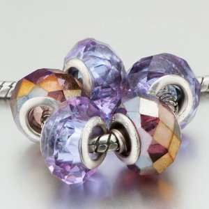 Visual Purple Beads Fit Pandora Charms (include Bracelet)