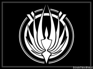 Battlestar Galactica Logo Decal Vinyl Sticker (2x)