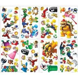 70 Nintendo Super Mario Wii Peel and Stick Wall Decals