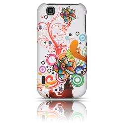 Luxmo Autumn Flower Rubber Coated Case for LG myTouch