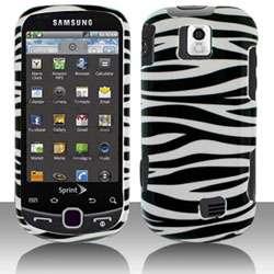 Samsung Intercept M910 Black/ White Zebra Snap on Protective Case