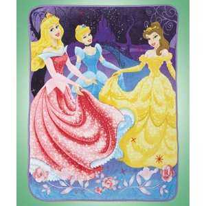 Plush Disney Princess Cinderella Sleeping Beauty Belle Throw Blanket