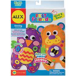 Alex Toys Felt Friends Kids Sewing Kit