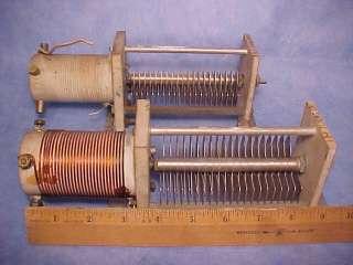 coils w/ variable capacitors   make ham radio antenna tuner