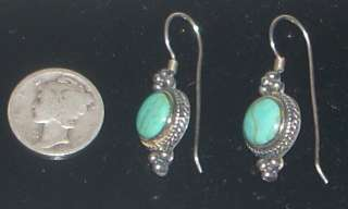 Vintage Southwest Sterling & Turquoise Earrings