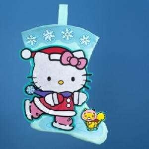 Hello Kitty Stocking Ice Skating