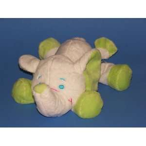 White & Green Plush Rattle Elephant 13 Toys & Games