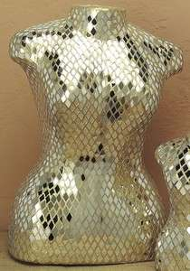 Large Mirrored Mosaic Dress Form Mannequin