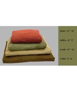 Microsuede Small Washable Pet Bed  Overstock