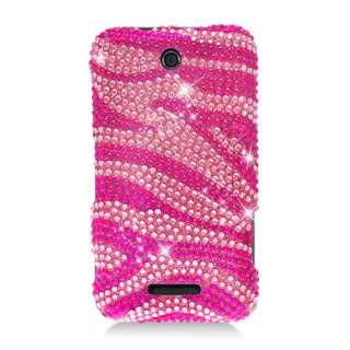 For ZTE SCORE X500 FULL CS DIAMOND Snap on Cover Case Hot Pink Zebra